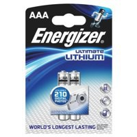 Energizer Ultimate Lithium Battery AAA Pack of 2 626262