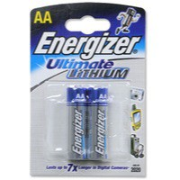 Energizer Ultimate Lithium Battery AA Pack of 2 626263