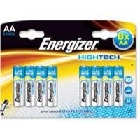 Energizer HighTech Battery Alkaline LR6 1.5V AA Ref 637448 [Pack 8]