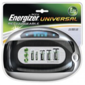 Energizer Universal Battery Charger with Smart LED 2-5Hrs Charging Time for AAA AA C D 9V Ref 629874