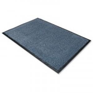 Door Mat Dust and Moisture Control Polypropylene 900mmx1500mm Blue