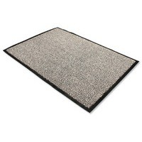 Door Mat Dust and Moisture Control Polypropylene 600mmx900mm Black and White
