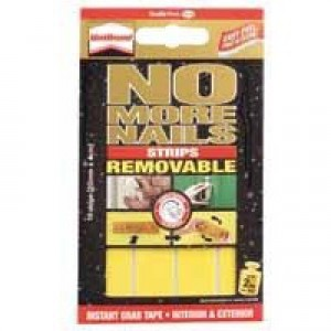 Unibond No More Nails Strip Ultra-strong Removable Translucent Pack 10