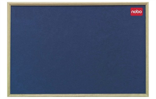 Nobo Classic Office Noticeboard with Fixings and Natural Oak Finish W900xH600mm Blue Ref 30135004