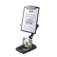 Fellowes Weighted Base Multipositional Copyholder Landscape and Portrait 3 Joints Graphite Ref 9169801