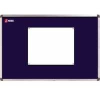 Nobo Elipse Noticeboard Felt with Fixings and Aluminium Frame 1800x1200mm Blue Code 1900982