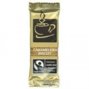 Fair Trade Coffee Biscuits Caramelised Individually Wrapped Portions Pack 300 Code A03923