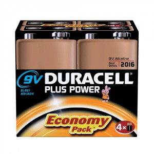 Duracell Plus Power Battery Alkaline 9V Ref 81275463 [Pack 4]