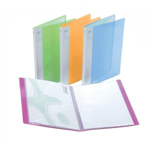 Rexel Ice Display Book Polypropylene 20 Pockets A4 Assorted Translucent Covers Ref 2102038 [Pack 10]