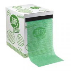 Jiffy Green Bubble Wrap Dispenser Box for Packing Recycled Polythene Wrap Size Ref 43010