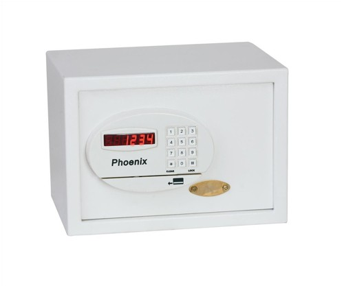 Phoenix Saracen Safe Cash Valuables 8 Digit Electronic Lock 14L 10kg W350xD250xH250mm Grey Ref SS0935E