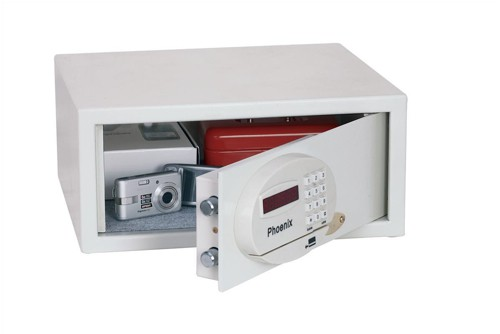 Phoenix Saracen Safe Cash Valuables 8 Digit Electronic Lock 22L 12kg W437xD380xH190mm Grey Ref SS0936E