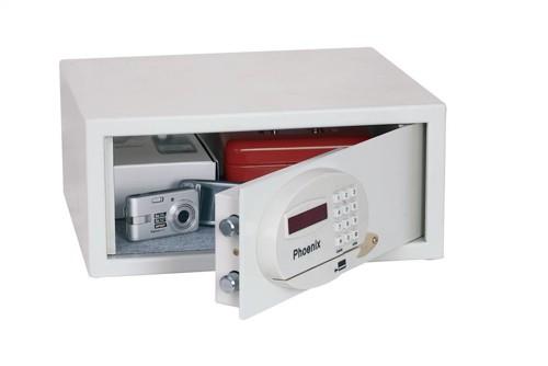 Phoenix Saracen Safe Cash Valuables 8 Digit Electronic Lock 22L 12kg W437xD380xH190mm Grey Ref SS0936E