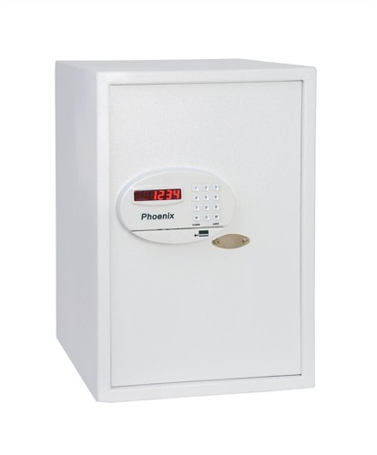 Phoenix Saracen Safe Cash Valuables 8 Digit Electronic Lock 75L 25kg W370xD445xH560mm Grey Ref SS0937E