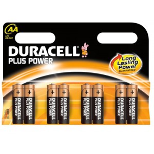 Duracell Plus Power Battery Alkaline AAA Size 1.5V Ref 81275266 [Pack 8]