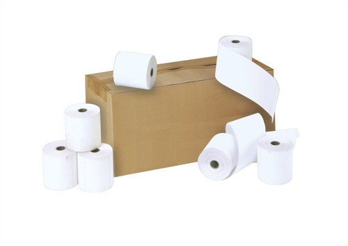 Credit Card Rolls Carbonless 2-ply 57x55x12.7mm Length 16m White Ref CC1 [Pack 20]