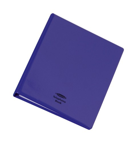 Telephone Index Book Binder with Matching A-Z Index and 20 Sheets A5 Purple