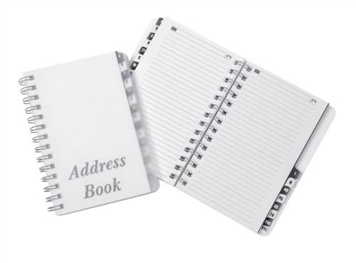 Telephone Address Book Wirebound Polypropylene Clear Cover 16 Part A-Z 185x125mm