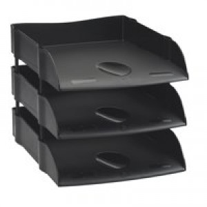 Avery Desktop Range Letter Tray Self Stacking 270x360x60mm Black Code DR100BLK