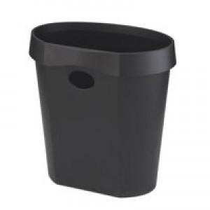 Avery Desktop Range Waste Bin Flat Back 18 Litre Capacity Black Code DR500BLK