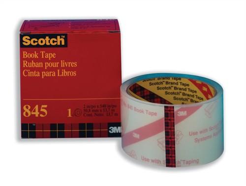Scotch Book Repair Tape 50.8mmx13.7m Transparent Ref 845
