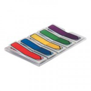 3M Post-It Notes Arrows Portable Pack 12x437mm Pack of 100 Assorted Standard Colours Code 684