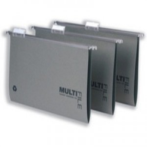 Multifile Suspension File Heavyweight Manilla with Tabs and Inserts Foolscap Green Ref 78008 [Pack 50]