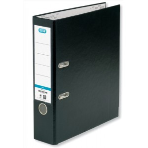 Elba Lever Arch File PVC 70mm Spine A4 Black Ref 100080904 [Pack 10]