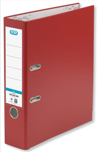 Elba Lever Arch File PVC 70mm Spine A4 Red Ref 100080903 [Pack 10]