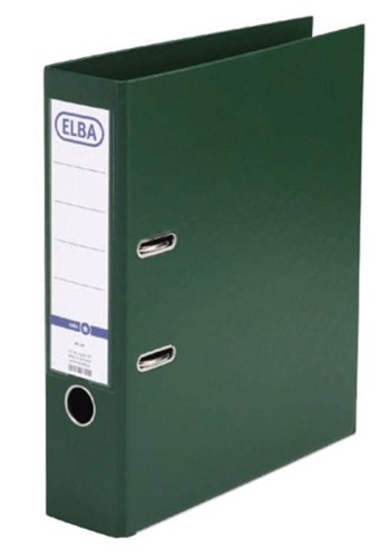 Elba Lever Arch File PVC 70mm Spine A4 Green Ref 100080899 [Pack 10]
