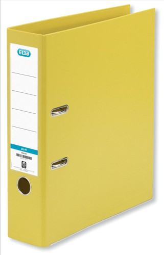 Elba Lever Arch File PVC 70mm Spine A4 Yellow Ref 100080901 [Pack 10]