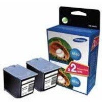 Samsung Inkjet Cartridge Page Life 1500pp Black Ref INK-M40V/ELS [Pack 2]