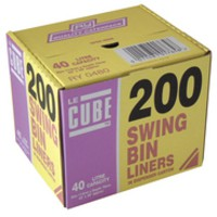 Robinson Young Le Cube Swing Bin Liners Box 200 Code 02184