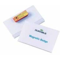 Durable Name Badges Magnetic W90xH54mm Transparent Ref 8117 [Pack 25]