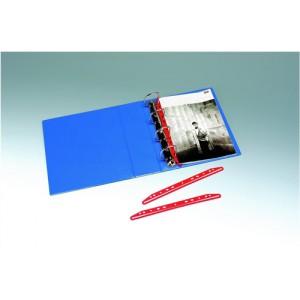 Clip Multipunched For Ringbinders 300mm Red [Pack 25]