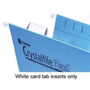 Rexel Crystalfile Flexifile Card Inserts for Suspension File Tabs White Ref 3000058 [Pack 50]
