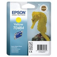 Epson T0484 Inkjet Cartridge Seahorse Page Life 400pp Yellow Ref C13T04844010