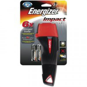 Energizer Impact LED Torch Weatherproof 16hr 11 Lumens 2AAA Ref 632630
