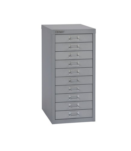 Bisley SoHo Multidrawer Cabinet 10-Drawer H590mm Silver Ref 069 55