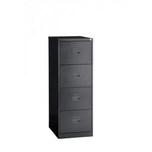Trexus Filing Cabinet Steel Lockable 4-Drawer W470xD622xH1321mm Black Ref CC4H1A av1