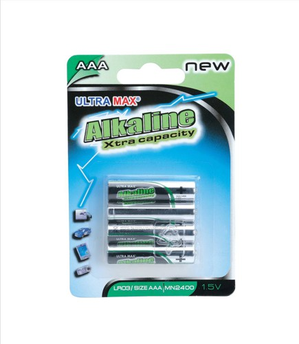 White Box Alkaline Batteries AAA [Pack 4]