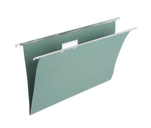 White Box Suspension Files Green Foolscap Ref 78616 [Pack 50]
