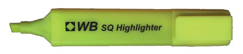 White Box Highlighters Yellow [Pack 10]