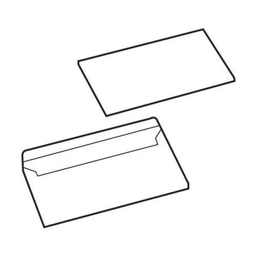 White Box Envelope Press Seal Wallet 80gsm DL White [Pack 1000]