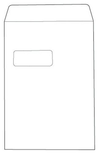 White Box Envelope Pocket Press Seal Window C4 White [Pack 250]