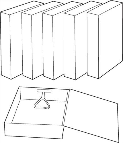 White Box Box File Cloud [Pack 10]