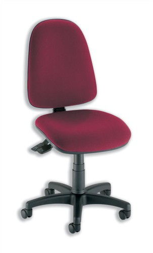 Trexus Office Operator Chair Asynchronous High Back H500mm W460xD430xH460-580mm Burgundy