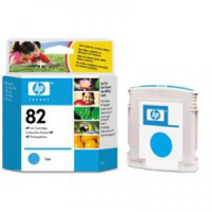 HP No.82 Inkjet Cartridge 69ml Cyan Code C4911AE