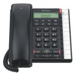 BT Converse 2300 Telephone Caller Display 10 Redial 100-entry Directory Black Ref 040212
