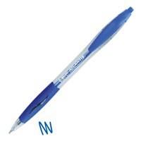 Bic Atlantis Ball Pen Retractable Cushioned Grip 1.0mm Tip 0.4mm Line Blue Ref 887131 [Pack 12]